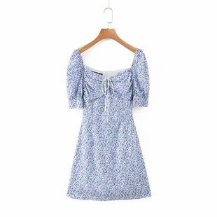 Summer new simple retro printing dress nihaojewelry wholesale NHAM214394's discount tags