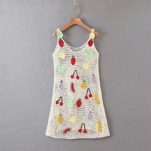 Summer new hollow handmade crocheted fruit sling dress nihaojewelry wholesale NHAM214395's discount tags