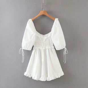 Summer lace sweet white dress nihaojewelry wholesale NHAM214402's discount tags