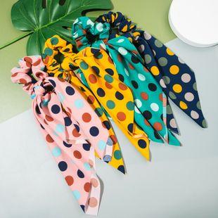 Tela estampada de lunares elegante coreana moda coreana toalla flotante gomas para el cabello nihaojewelry al por mayor NHLN214425's discount tags