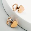 Simple and cute girl heart earrings titanium steel plated rose gold heartshaped earrings wholesale nihaojewelry NHLN214432