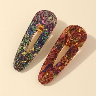 Acetato acrílico horquilla popular patrón de piedra tocado sirena borde clip conjunto al por mayor NHNZ214477's discount tags