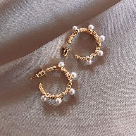 Korea simple vine C-shaped special-shaped pearl earrings sweet and cute earrings nihaojewelry wholesale NHXI214489's discount tags
