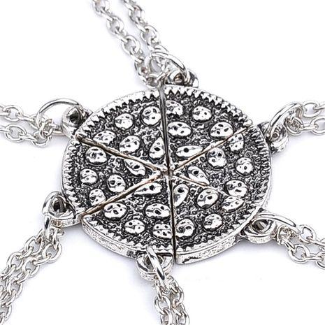 New fashion six-petal stitching good friend cute pizza necklace nihaojewelry wholesale NHMO214497's discount tags