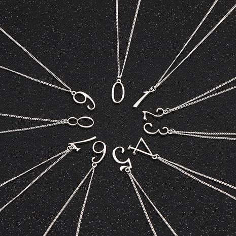 New creative geometric Arabic numerals 0 to 9 simple wild sweater chain pendant nihaojewelry wholesale NHMO214500's discount tags