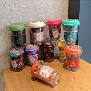 Corbata de pelo desechable de color de Corea, banda de goma, barril floral, pelo negro, rizos baratos al por mayor NHOF214517's discount tags