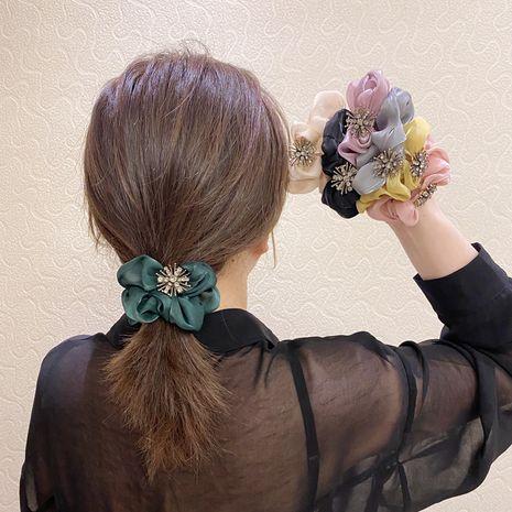 Gasa de malla de anillo de pelo lindo coreano bm francés simple aleación diamante alta elasticidad gomas para el cabello nihaojewelry al por mayor NHSM214532's discount tags