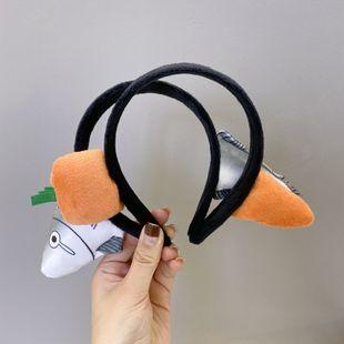 Diadema de zanahoria linda diadema de tiburón divertida Diadema de lavado de cara de dibujos animados coreanos nihaojewelry al por mayor NHSM214535's discount tags