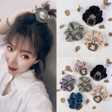 Chica coreana anillo de pelo de seda elástico alto nuevo bm cola de caballo corbata cabeza lanzamiento arte checo pelo cuadrado scrunchies nihaojewelry al por mayor NHSM214546's discount tags