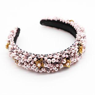 Diadema de flores de metal con cuentas de cristal de nueva moda nihaojewelry al por mayor NHWJ214550's discount tags