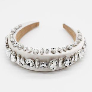 Nueva esponja de moda con incrustaciones de diamantes de imitación gema aro para el cabello baile de graduación street shot señoras accesorios para el cabello nihaojewelry al por mayor NHWJ214552's discount tags