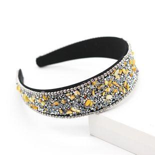 Nueva moda simple diadema de diamantes de imitación de ala ancha al por mayor nihaojewelry NHWJ214554's discount tags
