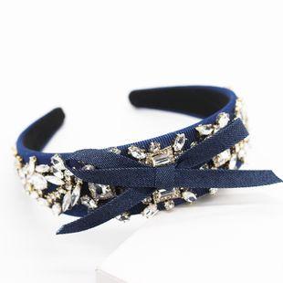 Nueva moda barroca de lujo con incrustaciones de diamantes geométricos bowknot ladies prom show diadema nihaojewelry al por mayor NHWJ214555's discount tags
