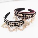 New Baroque Fashion Rhinestone Tassel Headband Prom Show Wild Hairband nihaojewelry wholesale NHWJ214556