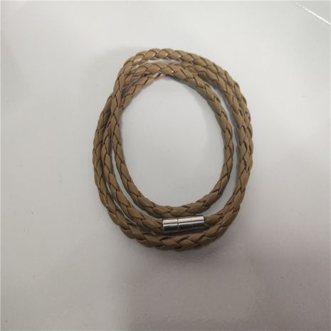 Fashion simple multi-layer braided twist bracelet men and women couples hand rope nihaojewelry wholesale NHPF214567's discount tags
