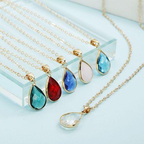 Nuevo collar de tendencia colgante de gota de diamante de cristal de moda simple para mujer nihaojewelry al por mayor NHPF214569's discount tags