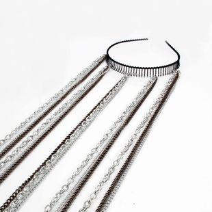 Diadema de moda coreana diadema dentada cadena de cabello para mujer onda de moda diadema accesorios para el cabello nihaojewelry al por mayor NHCT214617's discount tags