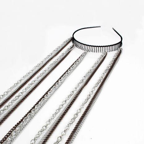 Coréen mode bandeau denté bandeau femmes chaîne de cheveux vague mode bandeau cheveux accessoires nihaojewelry gros NHCT214617's discount tags