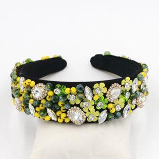 Nueva personalidad barroca moda flor punto de perla Diamante Metal Hairband Geometric Hairband venta al por mayor nihaojewelry NHCO214622's discount tags