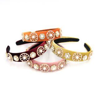 Nueva moda barroca cuadrado color punto diamante palacio lujo salvaje diadema nihaojewelry al por mayor NHCO214624's discount tags