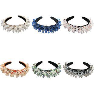 Accesorios para el cabello de moda barroca simple Diadema de perlas de cristal de cristal Diadema de pasarela NHCO214636's discount tags