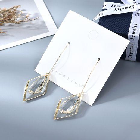 Coréen plaqué or créatif personnalité sauvage mode populaire gland cristal verre boucles d'oreilles en cuivre nihaojewelry gros NHPS214641's discount tags