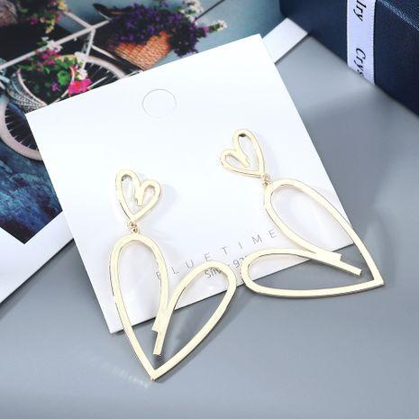 Coréen nouvelle mode véritable plaqué or créatif exagéré amour sauvage S925 argent aiguille boucles d'oreilles en cuivre nihaojewelry gros NHPS214649's discount tags