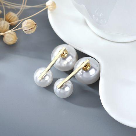 Coréen plaqué or simple rétro mode sauvage perle S925 argent aiguille cuivre boucles d'oreilles nihaojewelry gros NHPS214651's discount tags