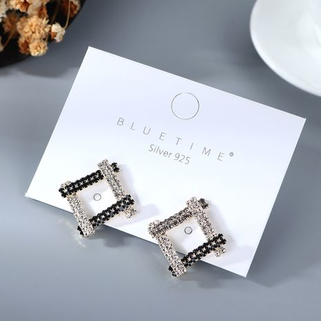 Coréen plaqué or simple petit frais et sauvage mode creux S925 argent aiguille cuivre boucles d'oreilles nihaojewelry gros NHPS214655's discount tags