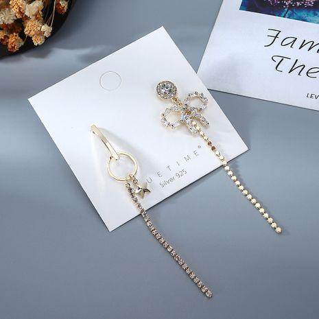 Coréen nouveau plaqué or gland de mode bowknot zircon S925 argent aiguille boucles d'oreilles en cuivre nihaojewelry gros NHPS214658's discount tags
