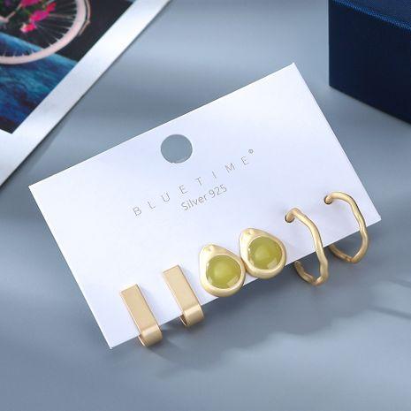 Nouvelle mode plaqué or sauvage simple S925 boucles d'oreilles aiguille en argent ensemble nihaojewelry gros NHPS214663's discount tags