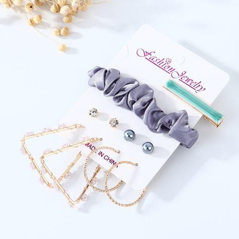 Coréenne nouvelle mode créative sauvage rétro boucles d'oreilles en épingle à cheveux ensemble nihaojewelry gros NHPS214668's discount tags