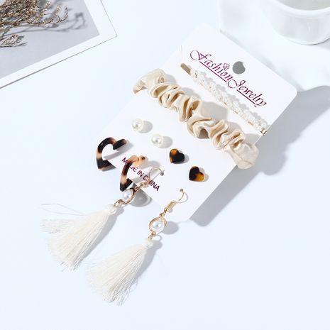 Coréenne nouvelle mode boucles d'oreilles en perles sauvages en épingle à cheveux ensemble nihaojewelry en gros NHPS214669's discount tags