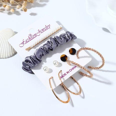 Coréenne nouvelle tendance rétro sauvage résine boucles d'oreilles en épingle à cheveux ensemble nihaojewelry gros NHPS214676's discount tags