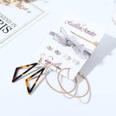 Coréen sauvage nouveau créatif arc perle boucles d'oreilles en épingle à cheveux ensemble nihaojewelry gros NHPS214685's discount tags