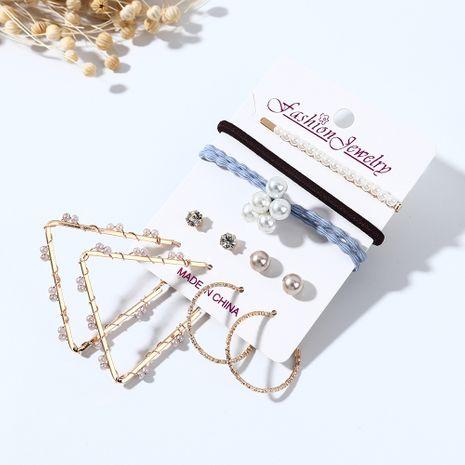 Tendance créative nouvelle mode simple boucles d'oreilles irrégulières en épingle à cheveux ensemble nihaojewelry gros NHPS214690's discount tags