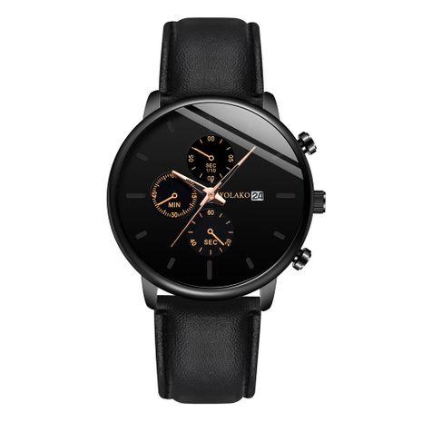 Nueva moda reloj de negocios para hombres ultradelgados reloj de correa de calendario para hombres reloj de correa de tres ojos para hombre nihaojewelry al por mayor NHSY214699's discount tags