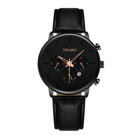 Nueva moda ultra-delgada de los hombres de negocios reloj de los hombres calendario cinturón reloj de los hombres reloj nihaojewelry al por mayor NHSY214700's discount tags