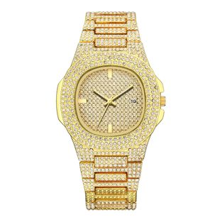 Rhinestone alloy ladies quartz watch fashion large dial with diamonds starry calendar ladies fashion watch nihaojewelry wholesale NHSY214703's discount tags