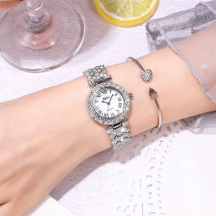 Rhinestone metal chain quartz watch fashion diamond-set starry Roman scale ladies hand watch nihaojewelry wholesale NHSY214704's discount tags
