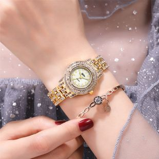 New rhinestone metal chain small ladies quartz watch fashion diamond-set ladies hand watch nihaojewelry wholesale NHSY214705's discount tags