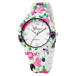 Bohemian style printed quartz watch fashion print with roman scale ladies watch nihaojewelry wholesale NHSY214706's discount tags
