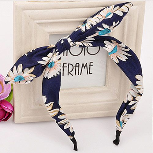 Korean headband nihaojewelry wholesale fashion bow tie rabbit headband hair accessories for women NHSC214966