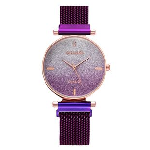 The new magnetite Milanese band ladies bracelet watch starry fashion diamond gradient color quartz watch wholesale nihaojewelry NHSY214716's discount tags