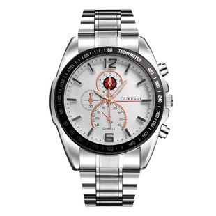 New fashion business watch big dial silver stainless steel waterproof steel band watch nihaojewelry wholesale NHSY214717's discount tags