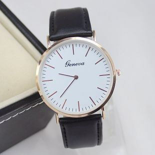 New simple men's watch fashion simple rose gold shell quartz casual belt ultra-thin watch wholesale NHSY214719's discount tags