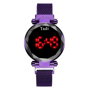 Touch screen LED electronic watch LED magnetite mesh belt watch fashion decoration hand watch nihaojewelry wholesale NHSY214720's discount tags