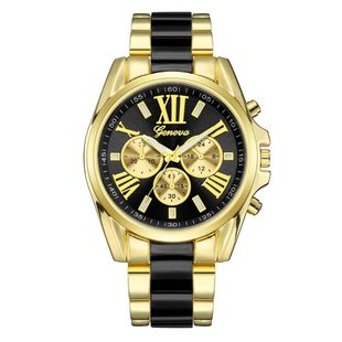 Three-eye Geneva steel belt watch steel belt Roman scale quartz watch large men's sports watch nihaojewelry wholesale NHSY214722's discount tags