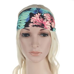 New fashion sports hair accessories bohemian print face wash beauty running yoga hair band wholesale NHDM214733's discount tags