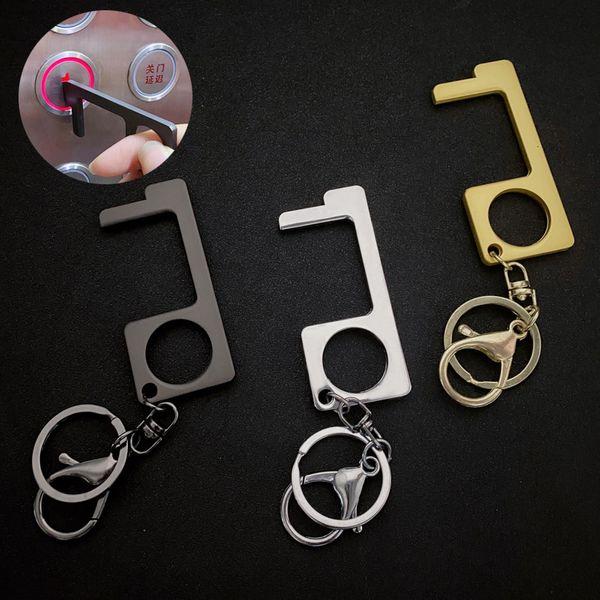 New simple press the elevator key chain chain metal pendant nihaojewelry wholesale NHBM214766